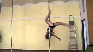 getlinkyoutube.com-Pole Dance (advanced tricks) - Romana Zahálková