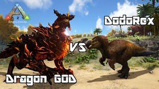 getlinkyoutube.com-ARK: Survival Evolved - Dragon GOD vs DodoREX - Dino Battle