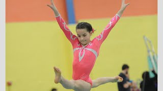 getlinkyoutube.com-Annie the Gymnast | Level 7 State Gymnastics Meet 2015 | Acroanna