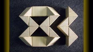 getlinkyoutube.com-Wooden Rubik's twist (or snake) puzzle