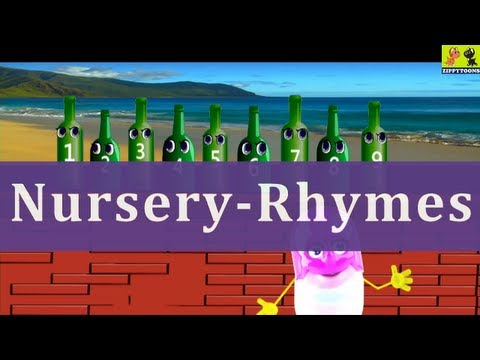 Nursery Rhymes | Ten Green Bottles | Kids Songs With Lyrics
