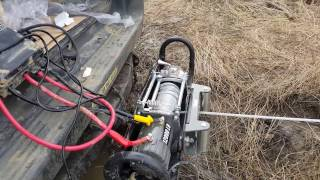 Harbor Freight 12000lb Winch MUD Test