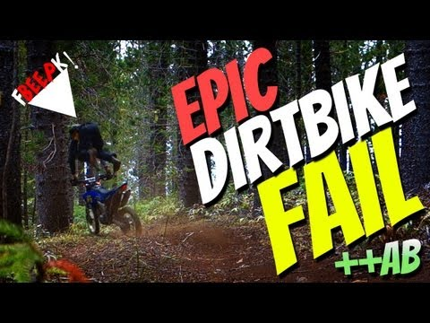 Epic dirtbike FAIL | ++Accidental Broadcast