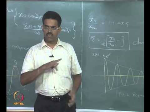 Mod-01 Lec-12 Undamped and damped systems I
