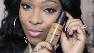 getlinkyoutube.com-Flawless Foundation For Very Oily Skin: SmashBox Studio Skin 15HR Wear Foundation/Demo