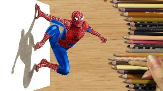 getlinkyoutube.com-3D Colored Pencil Drawing: Spider-Man - Speed Draw | Jasmina Susak
