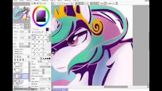 getlinkyoutube.com-MLP Speedpaint: Celestia