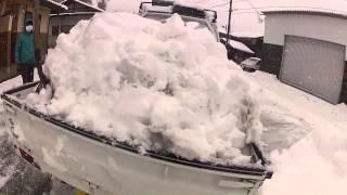 getlinkyoutube.com-軽トラに積んだ雪を一気に下ろす方法