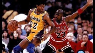 MAGIC JOHNSON'S LAKERS VS MICHAEL JORDAN'S BULLS! NBA 2K17