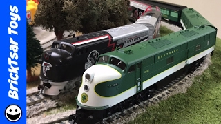 getlinkyoutube.com-Southern E6A E6B Locomotive Life Like Proto 2000 with Crescent Passenger Train
