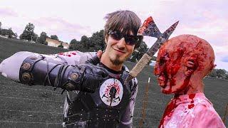 getlinkyoutube.com-BEST THROWING TOMAHAWK IN THE WORLD! The Flying Death Dagger! Zombie Go Boom