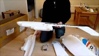 getlinkyoutube.com-SKYWALKER UNBOXING DEBALLAGE AVION RADIO COMMANDE PLANE FPV UAV DRONE