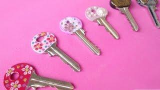 getlinkyoutube.com-3 Modi per decorare le chiavi - 3 Methods for keys decoration