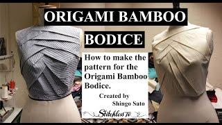 getlinkyoutube.com-Origami bamboo bodice tutorial TR cutting
