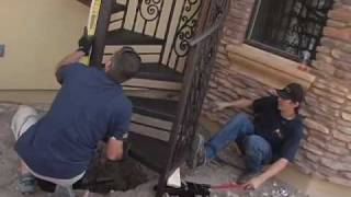 getlinkyoutube.com-Iron Spiral Staircase Installation by First Impression Security Doors, Phoenix, AZ
