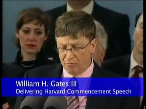 Bill Gates Speech - Harvard Commencement 2007 - 2 of 3