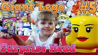 getlinkyoutube.com-Giant Lego Surprise Head - Kinder Surprise Eggs Unboxing. Гигантская Голова Лего С Сюрпризами #5