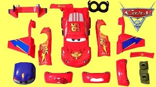 getlinkyoutube.com-CARS Design & Drive Gear Up Lightning McQueen Hawk Plane Transformer Toys 디즈니카 합체놀이 장난감입니다