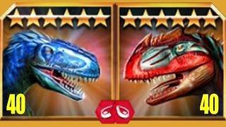 YUTYRANNUS  VS METRIACANTHOSAURUS - Jurassic World The Game