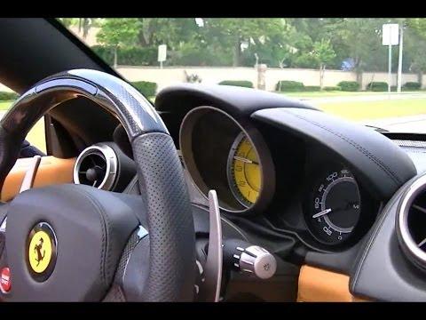 Test drive In a 2012 Ferrari California-Great sound!!