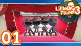 getlinkyoutube.com-Little Big Planet 3: Part 01 - Prologue (4-Player)