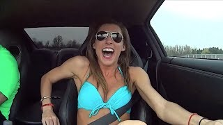 getlinkyoutube.com-Girls awesome reaction to 1000hp GTR launch!