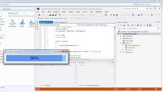 getlinkyoutube.com-Visual Studio | Design a custom ProgressBar in C#