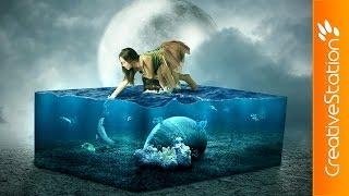 getlinkyoutube.com-The Lost Aquarium - Speed art (#Photoshop) | CreativeStation
