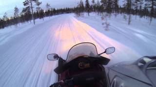 getlinkyoutube.com-Levi ympäri kelkalla. Round Levi with snowmobile. Part 2