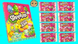 getlinkyoutube.com-8 Shopkins Season 3 Surprise Collector Cards + Album and 12 Pack Unboxing with 2 Blind Bags