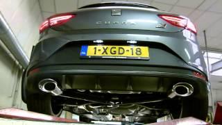 getlinkyoutube.com-Seat Leon 5F 2.0 TSI Cupra 280 met RVS turbo back uitlaat van EPS Uitlaten BV