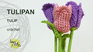 getlinkyoutube.com-Tutorial Tulipan Crochet o Ganchillo