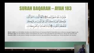 Ramadhan 2013 Surah Baqarah Ayah 183