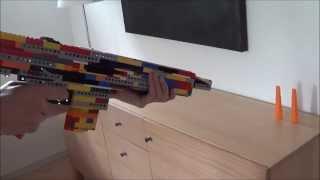 getlinkyoutube.com-Lego Custom Rifle Blowback Full auto RBG (working)
