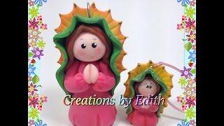 getlinkyoutube.com-Virgen de Guadalupe tutorial en porcelana fria o pasta de goma