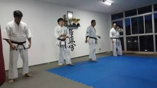Kyokushin Brasília Dojo - 1000 socos e 1000 chutes