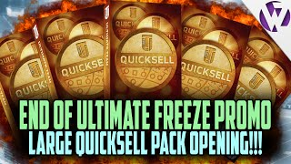 Madden 16 END OF ULTIMATE FREEZE PROMO LARGE QUICKSELL PACK OPENING!!! NOT TOO BAD!!!