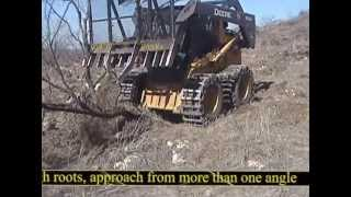 getlinkyoutube.com-Grub-N-Rake® Skid Steer Attachment for Grubbing and Land Clearing More Efficiently