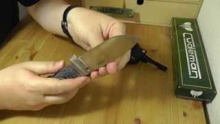 getlinkyoutube.com-Cudeman MT-5 | N695 & Micarta | Outdoor Messer