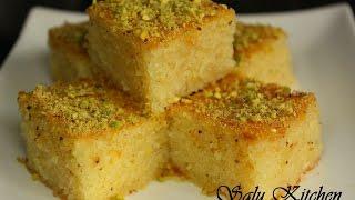 getlinkyoutube.com-Basbousa / Semolina Cake / Rava Cake (with English Subtitle)