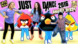getlinkyoutube.com-FGTEEV Kids plays Just Dance 2016!  ANGRY BIRDS + CHIWAWA Songs (1st Time Dance Moves)