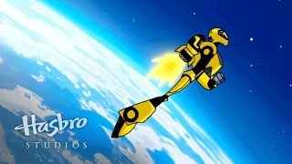 getlinkyoutube.com-Transformers: Animated - A Falling Bumblebee