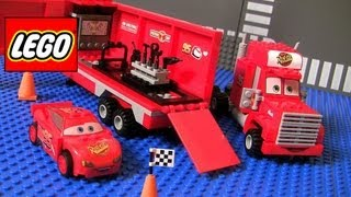 getlinkyoutube.com-Cars 2 Lego Mack's Team Truck 8486 Complete Blocks Assembly Disney Pixar Lightning McQueen