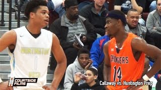 getlinkyoutube.com-Malik Newman & Callaway vs. Miles Bridges & Huntington Prep | CRAZY Highlights @ Mustang Madness!