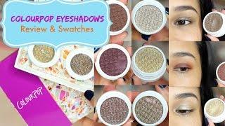 getlinkyoutube.com-Colourpop Super Shock Eyeshadow Swatches and Try On- MissLizHeart