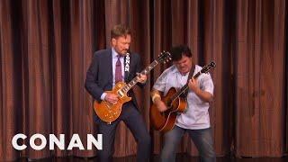 Conan And Jack Black's Guitar Battle  - CONAN on TBS