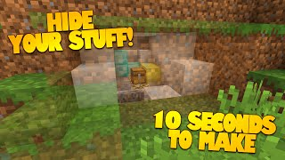 getlinkyoutube.com-Minecraft Redstone | How to Make a Secret Room in 10 Seconds! | HIDDEN ROOMS! (Minecraft Redstone)