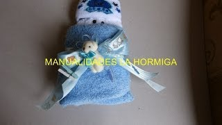 getlinkyoutube.com-como hacer bebe en toallas para recordatorio de baby showers No.164 Manualidadeslahormiga