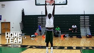 """getlinkyoutube.com-7'6 Tacko """"Taco"""" Fall Is The Tallest High School Player In The World"""