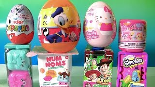 getlinkyoutube.com-Shimmer and Shine Toys Surprises Donald Duck, Hello Kitty, Kinder Disney Frozen Funtoyscollector